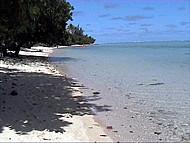 La playa del Relais Mahana, Bahía d'Avea, Huahine Iti, Polinesia Francesa. Author and Copyright: Marco Ramerini.