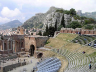Teatro, Taormina, Sicilia, Italia. Autor y