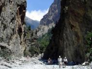 La garganta de Samaria, Creta, Grecia. Author and Copyright Luca di Lalla