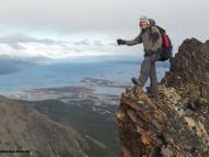Cumbre Cerro Francisco Seguí, Tierra del Fuego, Argentina. Autor y Copyright Guillermo Puliani