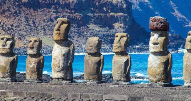 Ahu Tongariki, Isla de Pascua, Chile. Autor y Copyright Marco Ramerini