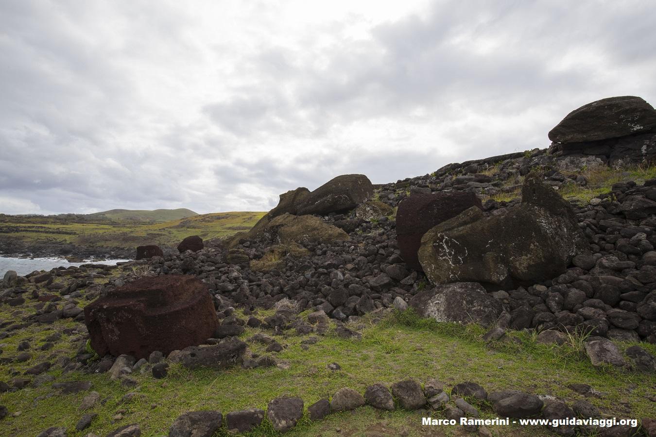 Ahu Akahanga, Isla de Pascua, Chile. Autor y Copyright Marco Ramerini,