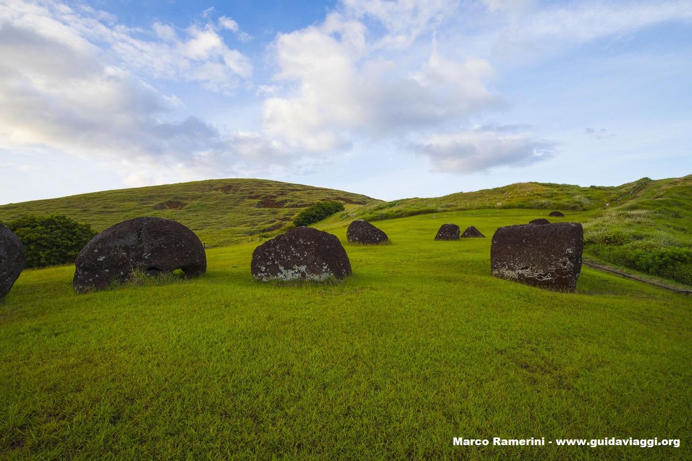 Puna Pau, Isla de Pascua, Chile. Autor y Copyright Marco Ramerini