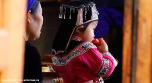 Niña, Qingkou, Yuanyang, Yunnan, China. Autor y Copyright Marco Ramerini...