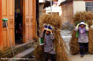 Mujeres, Qingkou, Yuanyang, Yunnan, China. Autor y Copyright Marco Ramerini