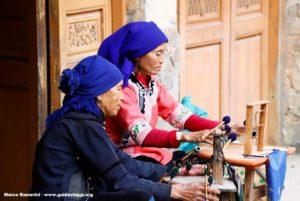 Mujeres, Qingkou, Yuanyang, Yunnan, China. Autor y Copyright Marco Ramerini...