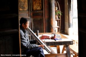Hombre, Tuanshan, Yunnan, China. Autor y Copyright Marco Ramerini...