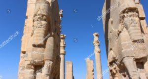 Persépolis. Puerta de todas las naciones. Ruinas de la capital ceremonial del imperio persa (imperio aqueménida), Irán. Autor y Copyright Marco Ramerini.