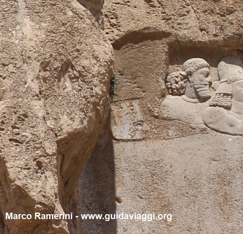 Restos del antiguo bajorrelieve elamita, Naqsh-e Rostam, Irán. Autor y Copyright Marco Ramerini.