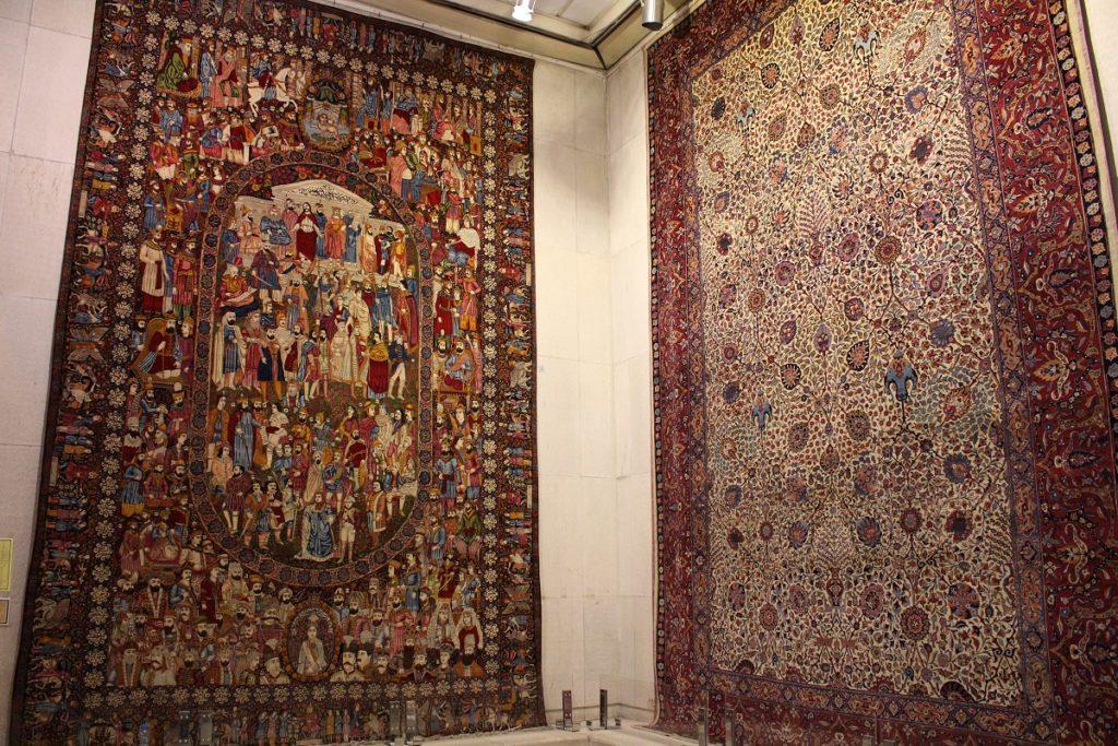 Alfombras, Museo de alfombras de Irán, Teherán, Irán. Autor y Copyright Marco Ramerini.