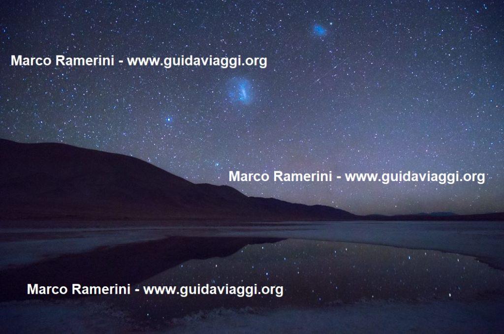 Los Ojos de Mar y las estrellas reflejadas, Argentina. Autor y Copyright Marco Ramerini