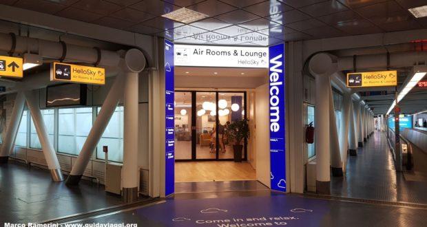 Entrada al Hotel HelloSky Rome Airport. Autor y Copyright Marco Ramerini