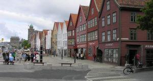 Bryggen, Bergen, Noruega. Autor y Copyright Marco Ramerini