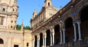 Plaza de España, Sevilla, Andalucía, España. Autor y Copyright Liliana Ramerini