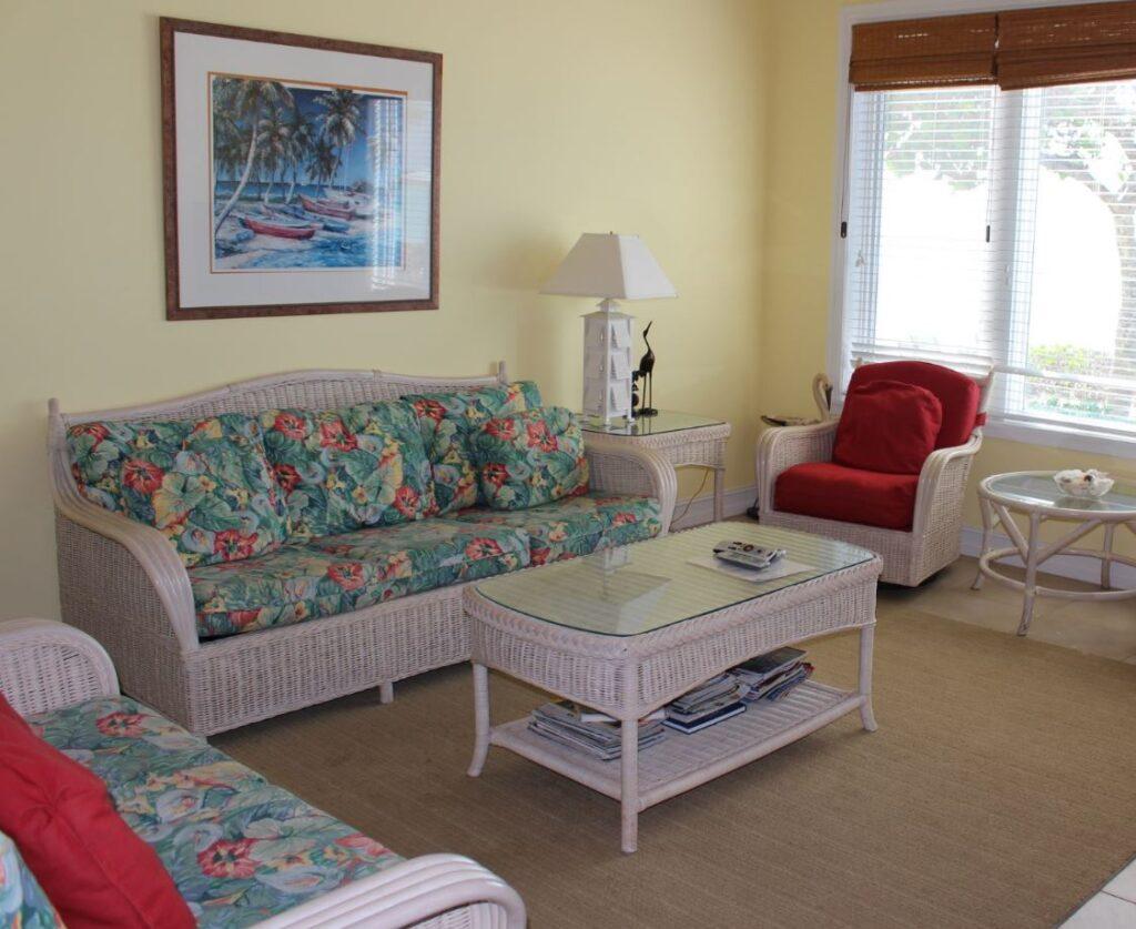 El interior de una villa, Cape Santa Maria Beach Resort, Long Island, Bahamas. Autor y Copyright Marco Ramerini.