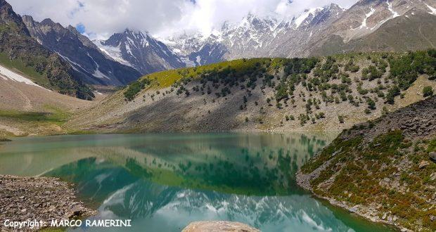 Lago Rama y las laderas del Nanga Parbat, Pakistán. Autor y Copyright Marco Ramerini
