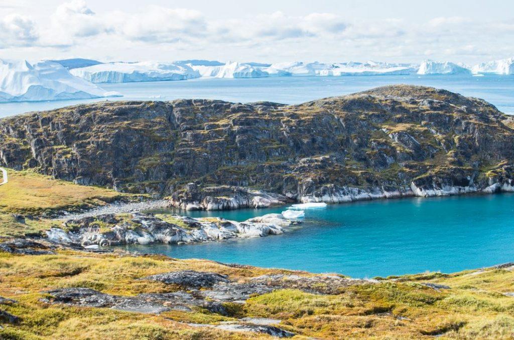 A lo largo del sendero amarillo, Icefjord, Ilulissat, Groenlandia. Autor y Copyright Marco Ramerini