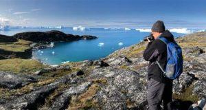 Rutas de senderismo a lo largo del Icefjord, Ilulissat, Groenlandia. Autor y Copyright Almo